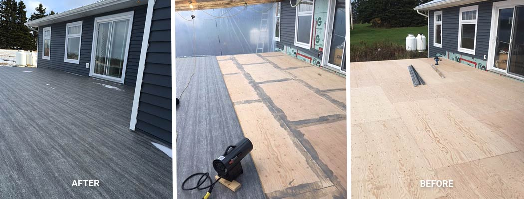 Before and After Duradek Vinyl Decking
