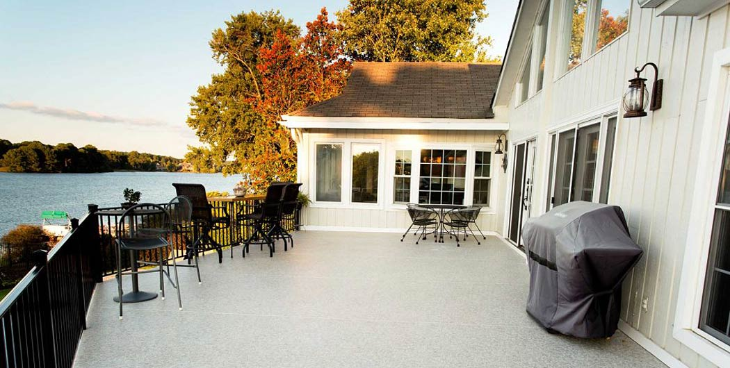 Vinyl deck surfaces are a very low-maintenance decking solution
